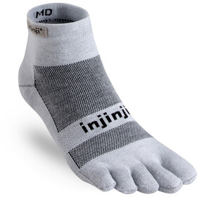 Injinji Run Mini-Crew Xtralife Lightweight Socken gray